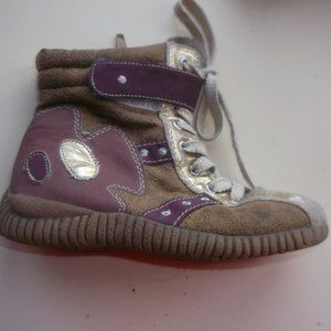 Other - Beige & Purple Boots Toddler Girl Size 9